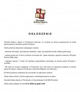 O G Ł O S Z E N I E kronikarz (1)