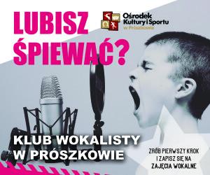 plakat klub wokalisty okis nabór